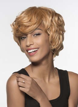 Mishair® African American Short Loose Wavy Human Hair Capless 6 Inches