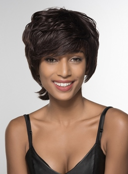 Mishair® Charming High Quality Human Hair Wigs 6 Inches
