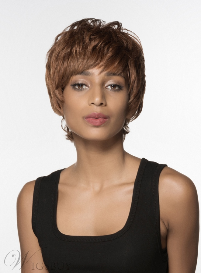 Mishair® Attractive Short Straight Capless Human Hair Wig 6 Inches 12002060