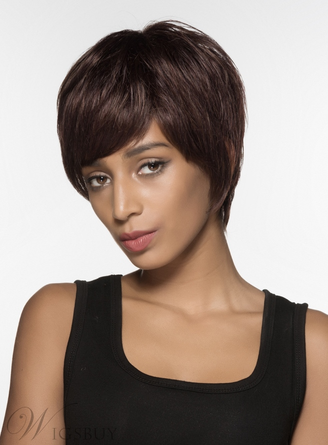 Mishair® Beautiful Short Straight Capless Human Hair Wig 6 Inches 12004201