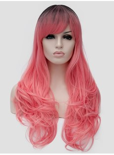 Clearance Sale Cosplay Wig Wavy Synthetic Hair Capless Wig
