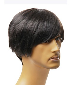 Special Men's Short Capless Synthetic Hair Wig 8 Inches