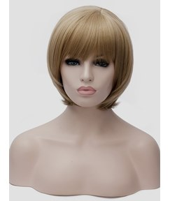 Short Bob Hairstyle Synthetic Hair Straight Capless Women Wig 12 Inches