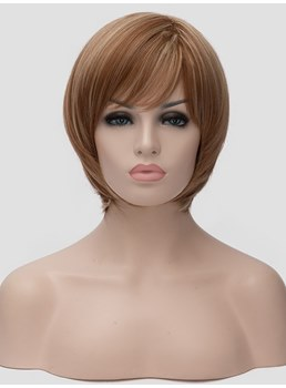 Short Cut Synthetic Straight Hair Capless Women Wig Clearance Sale