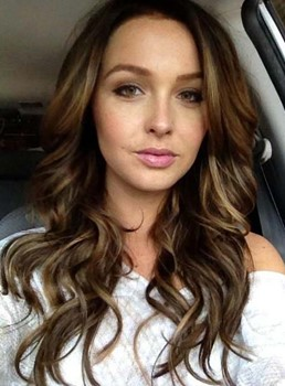Charming Long Wavy Lace Front Synthetic Hair Wig 20 Inches
