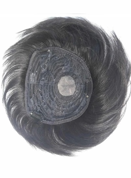 Human Hair Pieces Straight Natural Black