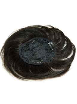 Human Hair Smooth Short Straight Hair Pieces