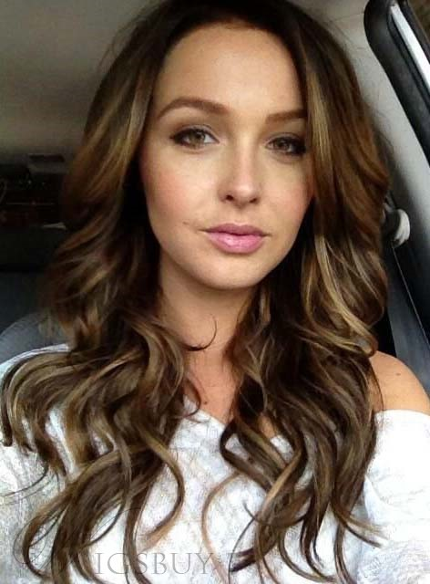 Side Fringe Long Wavy Lace Front Synthetic Hair Wigs 20 Inches