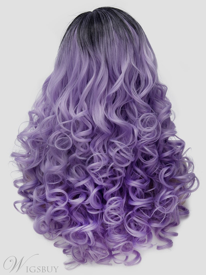 Cosplay Curly Synthetic Hair Capless Wig 24 Inches