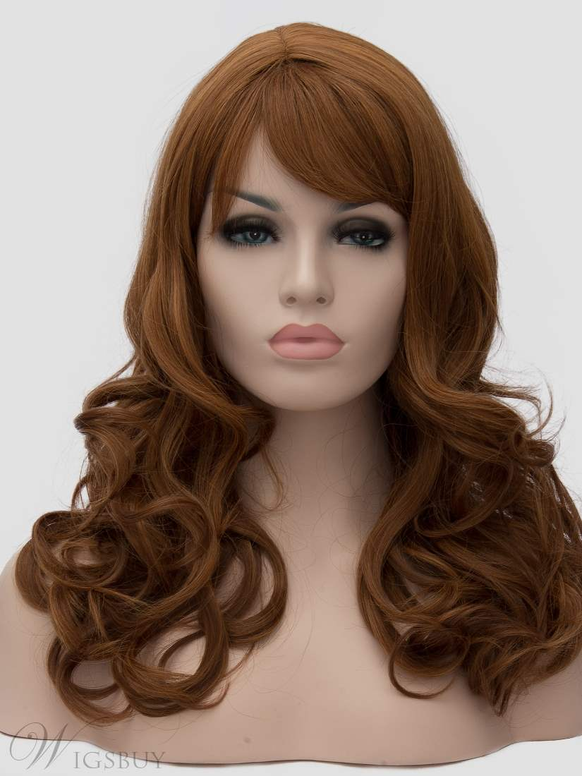 Clearance Sale Synthetic Wavy Hair Capless Women Wig 20 Inches