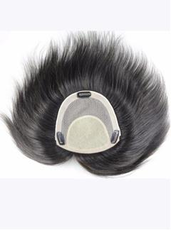 High Quality 100% Real Human Hair Clip In Men's Hairpieces 8*8