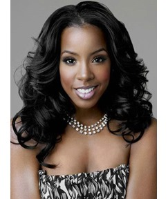 Kelly Rowland Long Romantic Big Wave Lace Front Synthetic Hair Wig 20 Inches