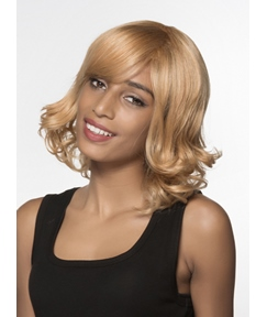 Mishair® Cute Medium Wavy Capless Human Hair Wig 14 Inches