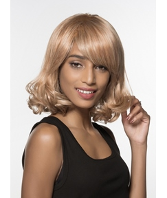 Mishair® Medium Bottom Wave Capless Human Hair Wig 14 Inches