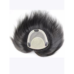 High Quality 100% Real Human Hair Clip In Mens Hairpieces 8*8