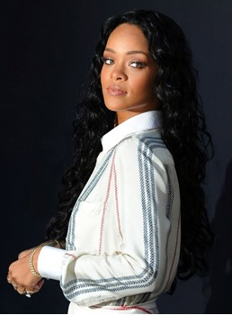 Rihanna Long Curly Lace Front Synthetic Hair Wig 24 Inches