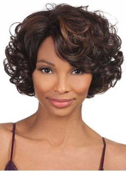 Sweety Short Curly Lace Front Human Hair Wig 10 Inches