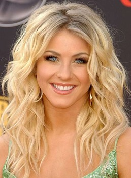 Julianne Hough Long Loose Wavy 20 Inches Lace Front Synthetic Wigs