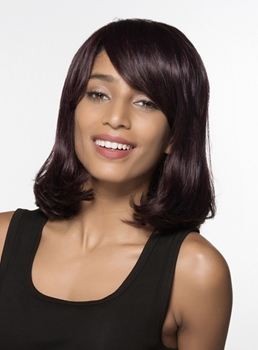 Mishair® Graceful Medium Wavy Capless Human Hair Wig 14 Inches