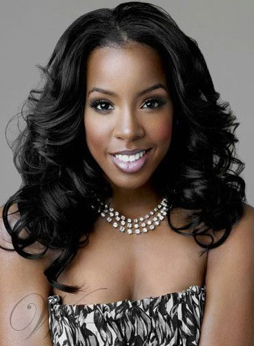 Kelly Rowland Long Wave Lace Front Synthetic Hair Wigs 20 Inches