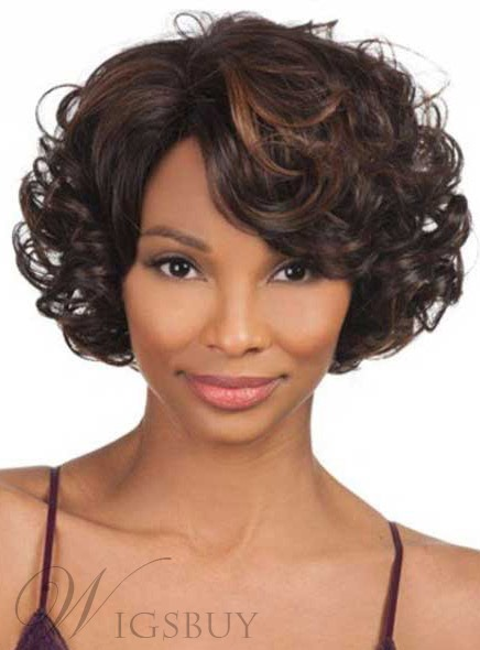Short Curly Lace Front Human Hair Wigs 10 Inches for Black Women