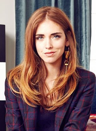 Chiara Ferragni Long Loose Wavy 22 Inches Synthetic Hair Lace Front Wigs