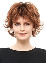 COSCOSS® Fluffy Layered Short Straight Synthetic Hair Capless Wig 8 Inches