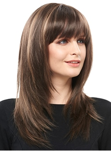 COSCOSS® Charming Long Layered Straight Synthetic Hair Capless 18 Inches Wig