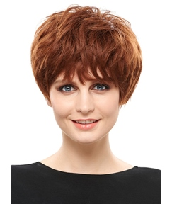 COSCOSS® Elegant Short Layered Synthetic Hair Capless Wig 6 Inches