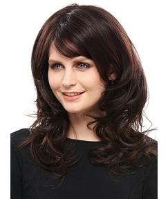 COSCOSS® Graceful Medium Wavy 14 Inches Synthetic Hair Capless Wig