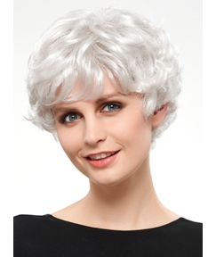 COSCOSS® Charming Short Wavy Synthetic Hair Capless Wig