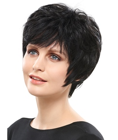 COSCOSS®Graceful Hand Tied Super Natural Short Straight 4 Inches Wig
