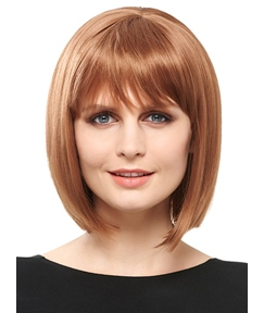 COSCOSS® Medium Straight Bob Synthetic Hair Capless Wigs