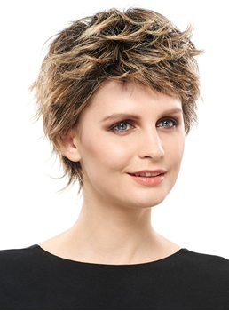 COSCOSS®Free Style Layered Cut Short Curly Synthetic Wig 6 Inches