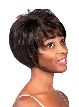 COSCOSS®Short Straight Capless Synthetic Hair Wig 10 Inches