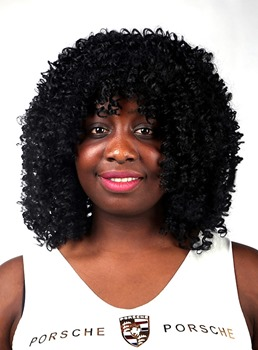COSCOSS®African American Medium Curly Capless Synthetic Hair Wig 14 Inches