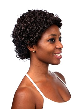 COSCOSS® Short Curly Synthetic Hair Capless Wig 6 Inches