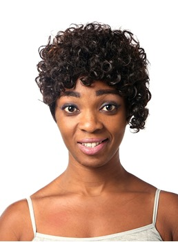 COSCOSS® Cute Short Curly Capless Synthetic Hair Wig 10 Inches
