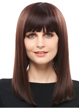 COSCOSS® Hot Sale Top Quality Long Straight Hair Capless Wig 16 Inches