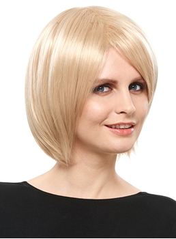 COSCOSS® Elegant Medium Capless Blonde 12 Inches Synthetic Hair Bob Wig