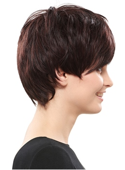 COSCOSS® Beautiful Unique Hairstyle Short Straight Synthetic Hair Wig