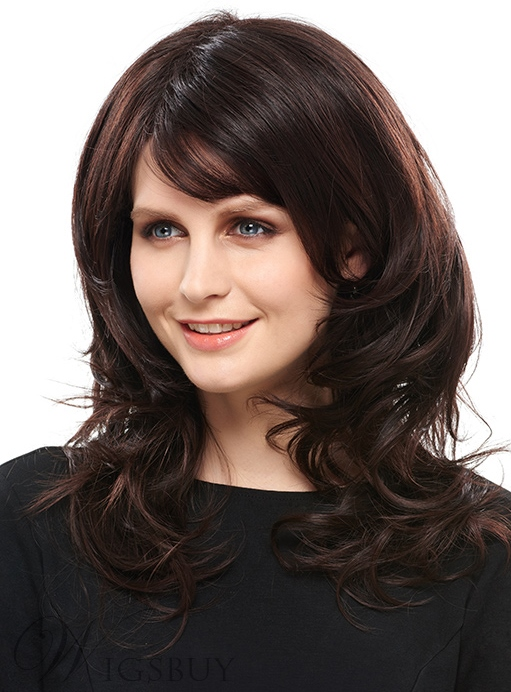 COSCOSS? Graceful Medium Wavy 14 Inches Synthetic Hair Capless Wig 12144211