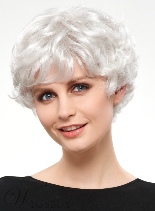 COSCOSS? Charming Short Wavy Synthetic Hair Capless Wig 12147522