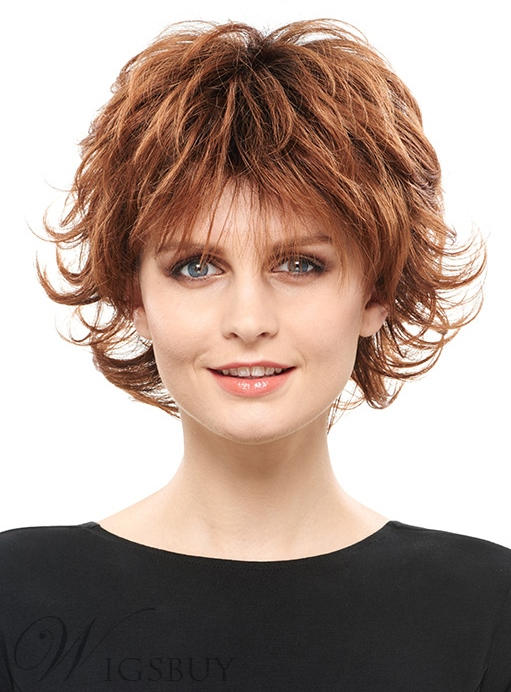 COSCOSS? Fluffy Layered Short Straight Synthetic Hair Capless Wig 8 Inches 12149565
