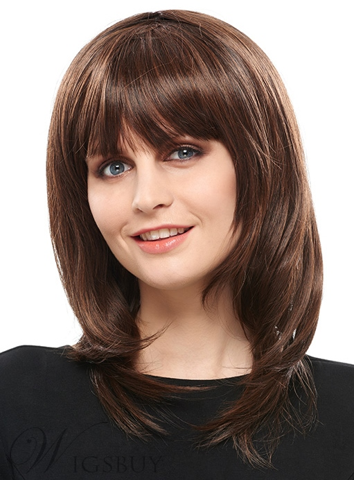 COSCOSS? Exquisite Medium Wavy Synthetic Hair Capless Wig 14 Inches 12144234