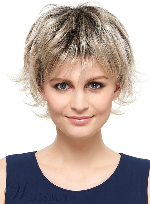 COSCOSS® Glamorous Short Wavy Capless Synthetic Wig 6 Inches