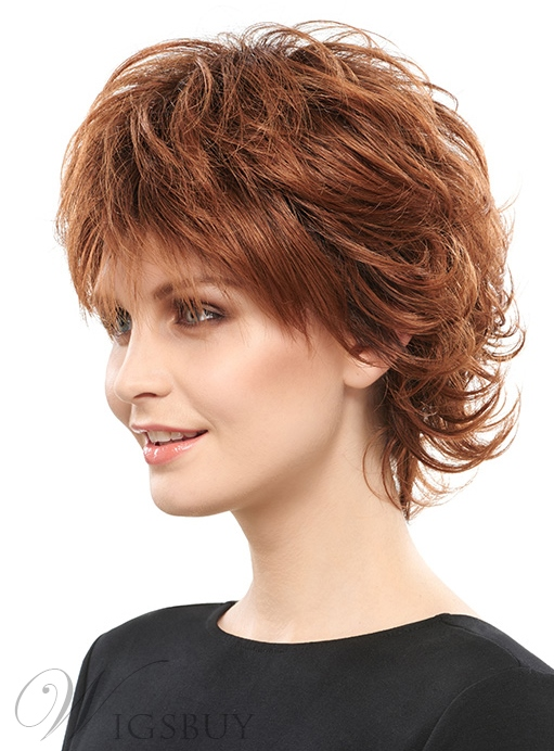 Coscoss 174 Fluffy Layered Short Straight Synthetic Hair Capless Wig 8 Inches Wigsbuy Com