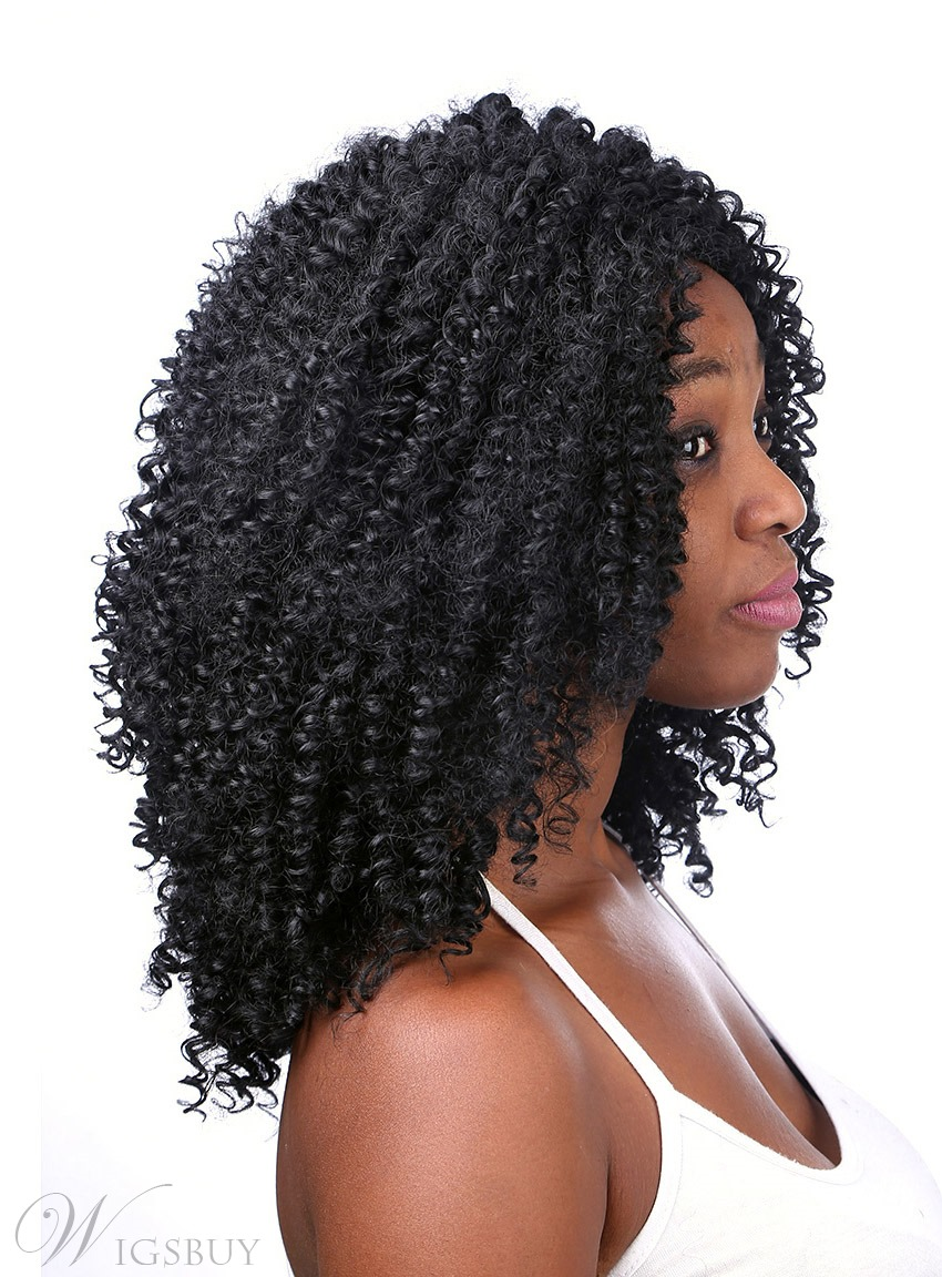 Coscoss 174 Medium Curly Capless Synthetic Hair Wig 14 Inches