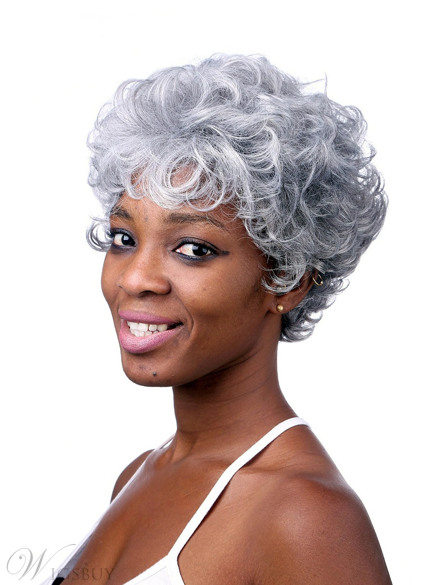 COSCOSS® Short Curly Capless Synthetic Hair Wig 10 Inches