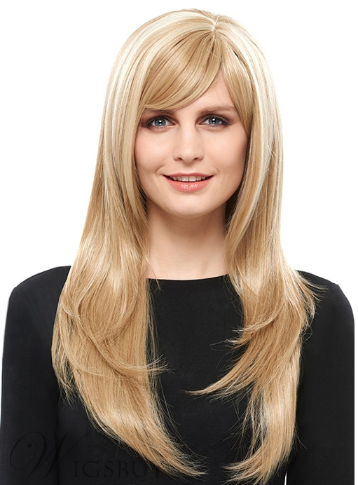COSCOSS? Elegant Long Straight Capless Blonde 26 Inches Synthetic Hair Wig 12153958